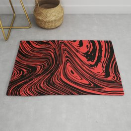 Red and black marble pattern Rug