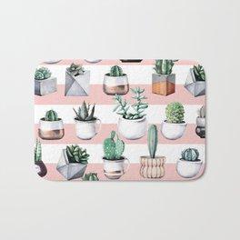 Cactus Pattern 02 Bath Mat