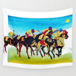 AT THE RACES              by  Kay Lipton Wall Tapestry