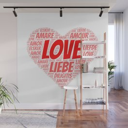 Love and Heart Wall Mural