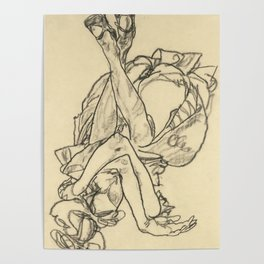 "Egon Schiele ""Woman Lying on her Back with Crossed Arms and Legs"" Poster"