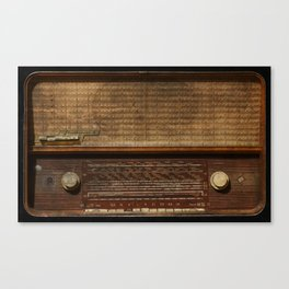 Vintage Photography of Wooden Tube Radio Canvas Print