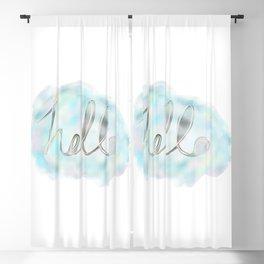 Hello Watercolor Blackout Curtain