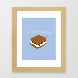 A LITTLE S'MORE EVERY DAY Framed Art Print