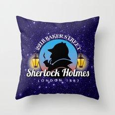 Sherlock Holmes Logo Throw Pillow