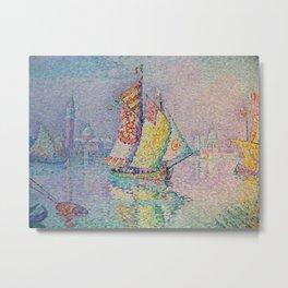 Paul Signac - The Yellow Sailier. Metal Print