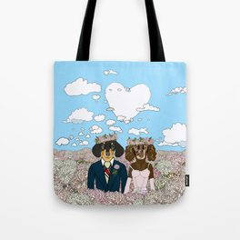 Dachshund Lovers - Honeymoon Tote Bag