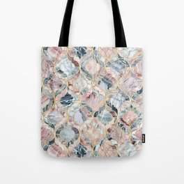 Marble Moroccan Tile Pattern Tote Bag