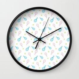 Tennis sport outline pattern Wall Clock