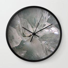 Cracked quartz crystal Wall Clock