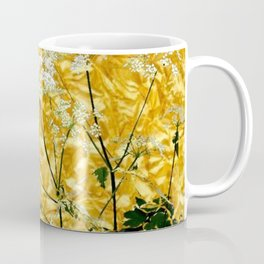 GOLDEN LACE FLOWERS FROM SOCIETY6 BY SHARLESART. Coffee Mug