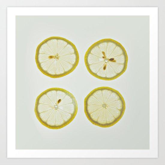 Lemon Square Art Print