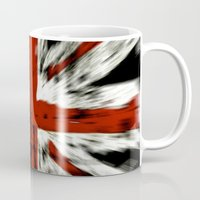 uk Mugs featuring UK Flag by WonderfulDreamPicture