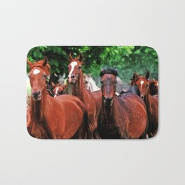 Polish Arabian Mares Bath Mat