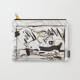 Old Flowers - b&w Carry-All Pouch
