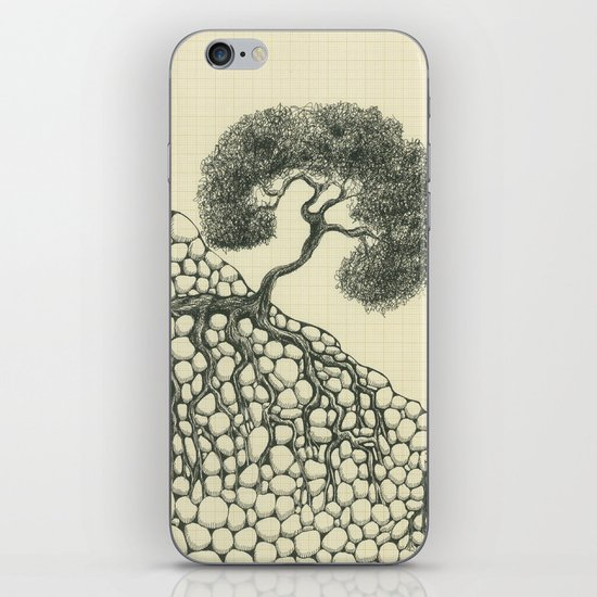 Artificial tree N.12 iPhone & iPod Skin