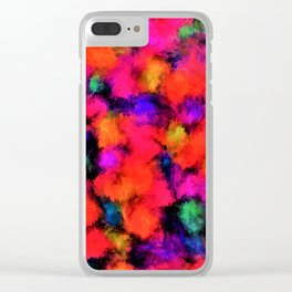 Bright Rainbow Colors Clear iPhone Case