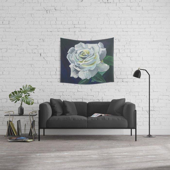 Sugar Moon Rose Wall Tapestry