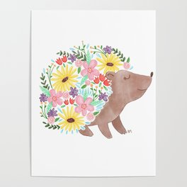 Flowering Hedgehog Poster