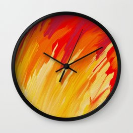 Come Aflame Painting Wall Clock