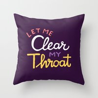 clear Throw Pillows featuring Clear by Vaughn Fender