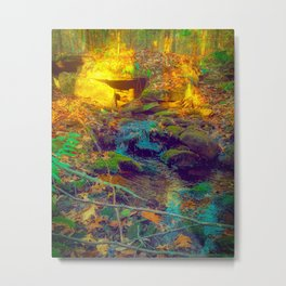 The water flows even if I'm not there Metal Print