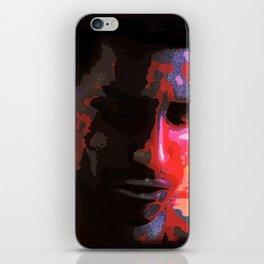 Sad young African man iPhone Skin