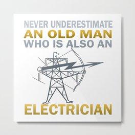 Old Man - An Electrician Metal Print