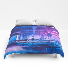 Glitchy Dreams Of You Comforters