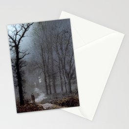 John Atkinson Grimshaw - Lovers in a Wood - Victorian Retro Vintage Painting Stationery Cards