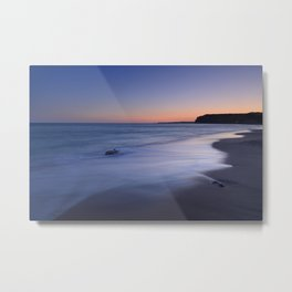 Magic sunset. Algarve beach Metal Print