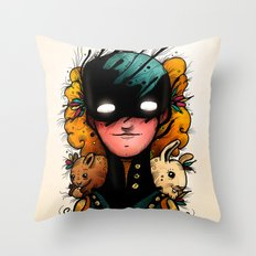 Guardians of the Woods (Color Version) Throw Pillow