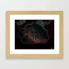 NEON NIGHT FISH Framed Art Print