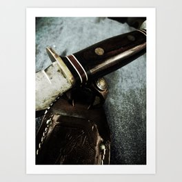 Old Hunting Knife Art Print