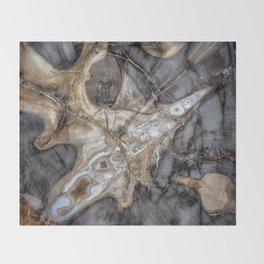 Petrified wood 3264 Throw Blanket