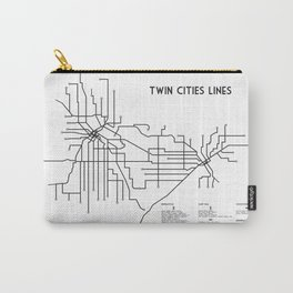 Twin Cities Lines Map Carry-All Pouch