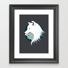 Boy Cries Wolf (White) Framed Art Print