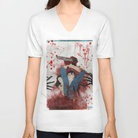 evil V-neck T-shirts featuring Evil by Spectacle Photo