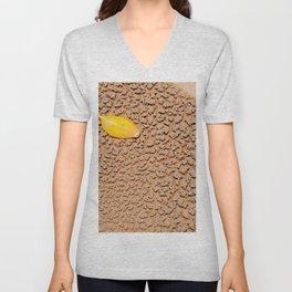 Dry sand textures Unisex V-Neck