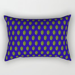 Hops Blue Pattern Rectangular Pillow