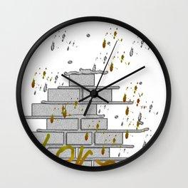 graffiti in progress Wall Clock