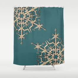 Gold snowflakes 2 Shower Curtain