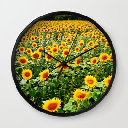 Field of Sunny Flowers Wall Clock