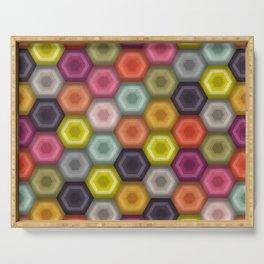 crochet honeycomb Serving Tray