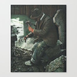 THE STONECUTTER Canvas Print