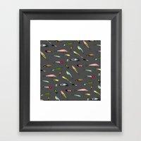 Fishing baits Framed Art Print