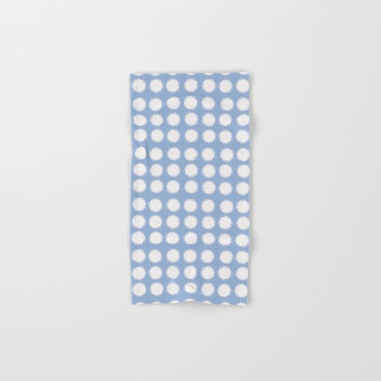 milk glass polka dots in light blue Hand & Bath Towel