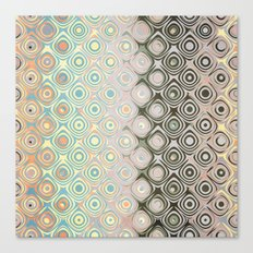 Pastel Pattern of Circular Shapes Canvas Print
