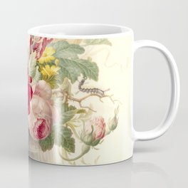 "Herman Henstenburgh ""Flowers in a Glass Vase with a Butterfly"" Coffee Mug"