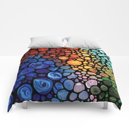 Abstract 1 - Beautiful Colorful Mosaic Art by Sharon Cummings Comforters